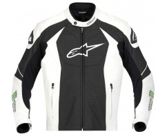 Куртка Alpinestars GP-M кожа black\white\green