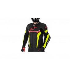 Куртка Alpinestars CELER кожа black\red\yellow fluo