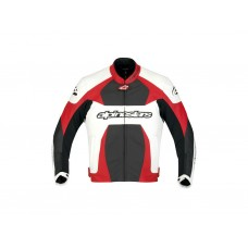 Куртка Alpinestars GP PLUS white/red/black кожа